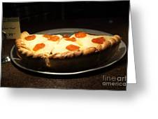 Pizza Pie - 5d20701 Greeting Card by Wingsdomain Art and Photography