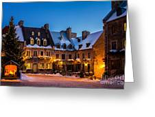 Place Royale Quebec City Canada Greeting Card by Dawna  Moore Photography