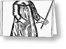 PLAGUE COSTUME, 1720 Greeting Card by Granger