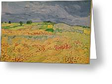 Plain At Auvers Greeting Card by Vincent Van Gogh