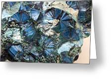 Plancheite Mineral Greeting Card by Science Photo Library