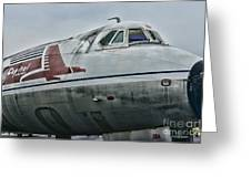 Plane Capital Airlines Greeting Card by Paul Ward