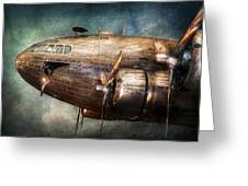 Plane - Pilot - The Flying Cloud  Greeting Card by Mike Savad