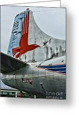 Plane Tail Wing Eastern Air Lines Greeting Card by Paul Ward