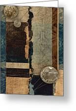 Planetary Shift #1 Greeting Card by Carol Leigh