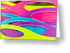 Plastic Tubs Greeting Card by Tom Gowanlock