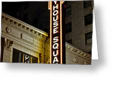 Playhouse Square Greeting Card by Frozen in Time Fine Art Photography