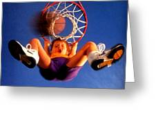 Playing Basketball Greeting Card by Lanjee Chee