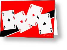 Playing Cards Aces Greeting Card by Natalie Kinnear