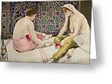 Playing Knucklebones Greeting Card by Paul Alexander Alfred Leroy