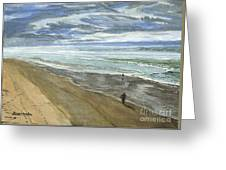Playing On The Oregon Coast Greeting Card by Ian Donley