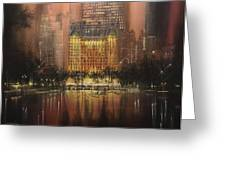 Plaza Hotel New York City Greeting Card by Tom Shropshire