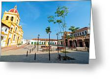 Plaza In Mompox Greeting Card by Jess Kraft