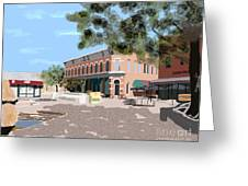 Plaza Greeting Card by James Cole