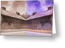 Pleasant View Country Barns Greeting Card by Betsy C  Knapp