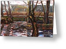 Plein Air Of The Eel After Alfred Sisley Greeting Card by Charlie Spear