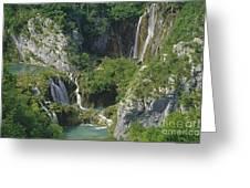 Plitvice Lakes In Croatia Greeting Card by Rudi Prott