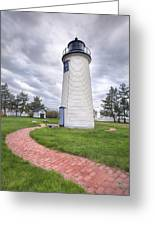 Plum Island Lighthouse Greeting Card by Eric Gendron