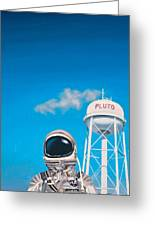 Pluto Greeting Card by Scott Listfield