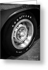 Plymouth Cuda Rallye Wheel Greeting Card by Paul Velgos
