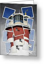 Plymouth Hoe Lighthouse Greeting Card by Donald Davis
