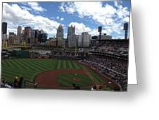 PNC Park Greeting Card by Shelley Johnsen