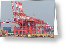 PNCT Facility in Port Newark-Elizabeth Marine Terminal I Greeting Card by Clarence Holmes