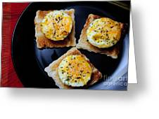 Poached Eggs On A Raft Greeting Card by Andee Design