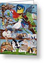 Pocket Pets Greeting Card by Debbie LaFrance