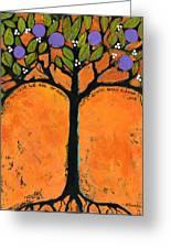 Poe Tree Art Greeting Card by Blenda Studio