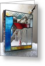 Poet Windowsill Box - Other View Greeting Card by Karin Thue