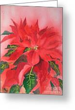 Poinsettia Greeting Card by Yoshiko Mishina