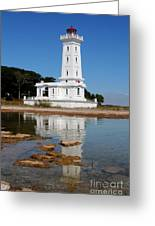 Point Abino Reflections Greeting Card by Darleen Stry