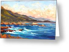 Point Lobos Sunset Greeting Card by Karin  Leonard