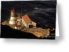 Point Reyes Lighthouse Greeting Card by Ron Sanford