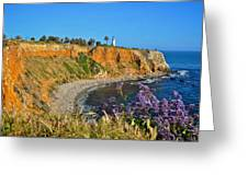 Point Vicente Lighthouse Greeting Card by Matt MacMillan