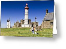Pointe Saint Mathieu Brittany France Greeting Card by Colin and Linda McKie