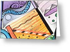 Points Lines And Circles Greeting Card by Helena Tiainen
