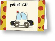 Police Car Greeting Card by Esteban Studio