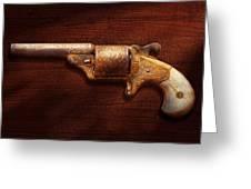 Police - Gun - Mr Fancy Pants Greeting Card by Mike Savad