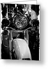 Police Harley II Greeting Card by David Patterson