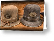 Police Officer - Vintage Police Hats Greeting Card by Lee Dos Santos