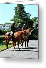 Policeman - Mounted Police Profile Greeting Card by Susan Savad