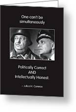 Political Correctness Greeting Card by Mike Flynn