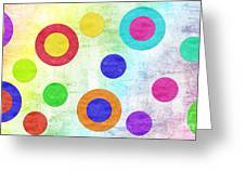 Polka Dot Panorama - Rainbow - Circles - Shapes Greeting Card by Andee Design