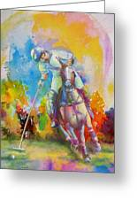 Polo Art Greeting Card by Catf