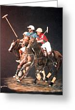 Polo Fever Greeting Card by DiDi Higginbotham
