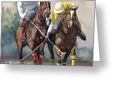 Polo Greeting Card by Laurie Hein