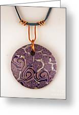 Polymer Clay Pendant Mc04211205 Greeting Card by P Russell
