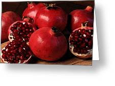Pomegranate Greeting Card by Cole Black